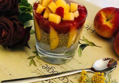 zdravé raňajky s chia semienkami