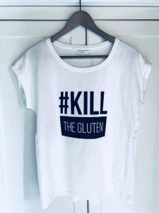 tričko s potlačou kill the gluten