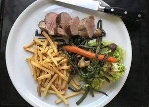 Recept na panenku s grilovanou zeleninou