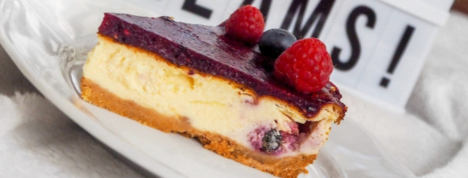 bezlepkový koláč cheesecake