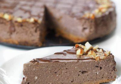 čokoládový bezlepkový cheesecake